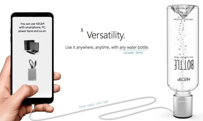 mobiele waterionisator